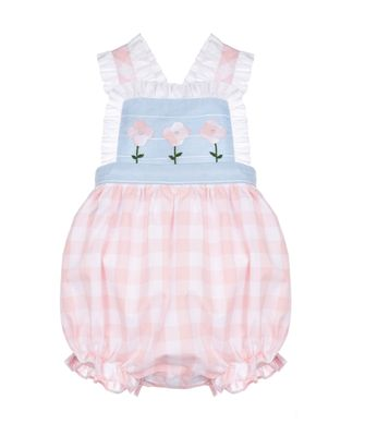 Sophie & Lucas Baby / Toddler Girls Pink Check Sunny Season Bubble