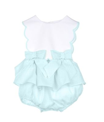 Sophie & Lucas Baby / Toddler Girls Sherbet Scallop Bubble - Mint