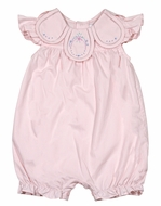 Sophie & Lucas Baby / Toddler Girls Vintage Petal Collar Bubble - Pink
