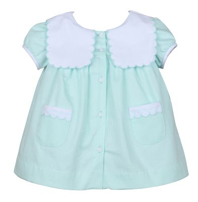 Sophie & Lucas Girls Mint Green Hanna Dress