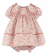 Sophie & Lucas Girls Orange Fall Floral Petal Collar Dress