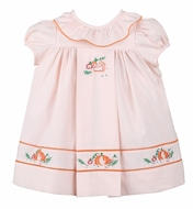 Sophie & Lucas Girls Peach Thanksgiving Pumpkin Pie Dress