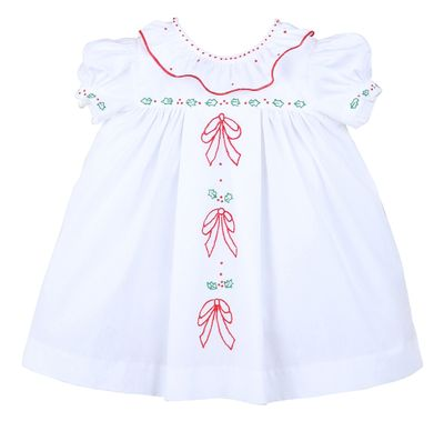 Sophie & Lucas Girls White Merrymaker Ruffle Dress