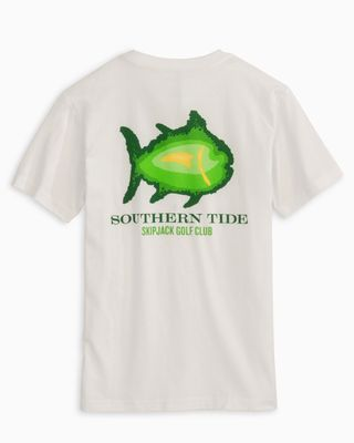 Southern Tide Boys Classic White Tee Shirt - Skipjack Golf Course