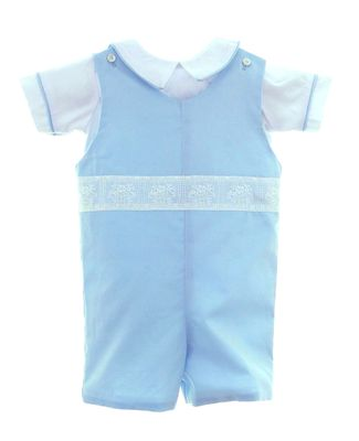 Susanne Lively Baby / Toddler Boys Dressy Blue Shortall with Shirt