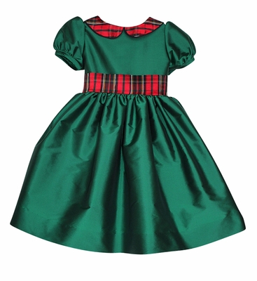 Susanne Lively Girls Emerald Green Christmas Dress Red