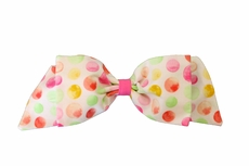 Susanne Lively Girls Hair Bow to Match Dress - Pink Bubbles