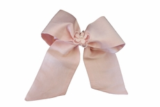 Susanne Lively Girls Hair Bow to Match Dress - Pink with Flower