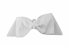 Susanne Lively Girls Hair Bow to Match Dress - White with Flower