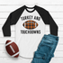 Sweet Wink Boys White Tee Shirt with Black Sleeves - Turkey and Football Touchdowns