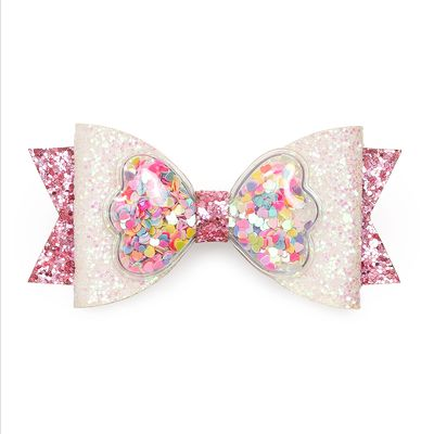 Sweet Wink Girls Hair Clip Bow - Pink Sprinkles