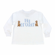 The Bailey Boys Toddler Boys White Shirt with Dogs - Big Brother Shirt
