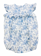 The Best Dressed Child Baby Girls Blue Toile Bubble