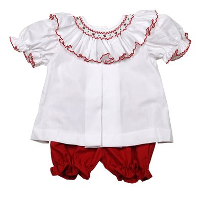 The Best Dressed Child Baby Toddler Girls White Red