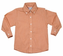 The Best Dressed Child Boys Orange Button Down Shirt