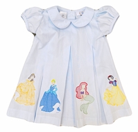 The Best Dressed Child Girls Blue Dana Dress - Embroidered Princesses