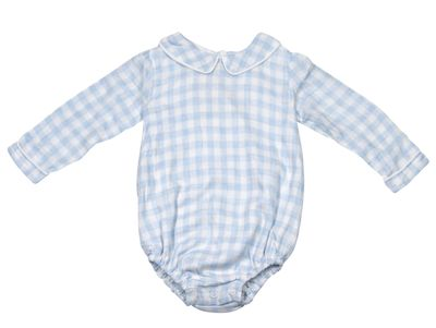 The Oaks Baby Boys Elliott Blue Check Bubble