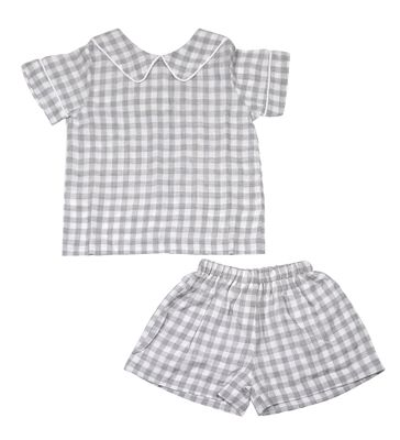 The Oaks Baby / Toddler Boys Cohen Gray Check Shorts Set