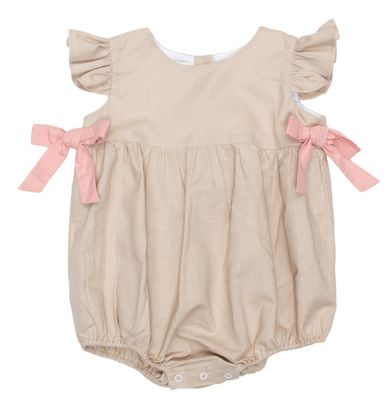 The Oaks Baby / Toddler Girls Hailey Tan Bubble with Bows