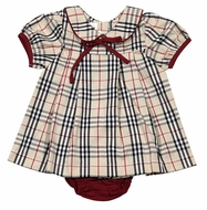 The Oaks Baby / Toddler Girls Miriam Tan Tartan Dress Set