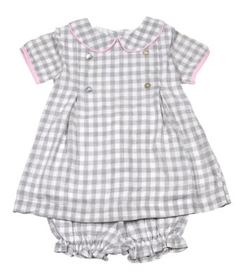 The Oaks Baby / Toddler Girls Peyton Gray Check Dress Set