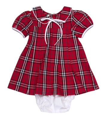 The Oaks Baby / Toddler Girls Sharon Red Holiday Plaid Dress Set