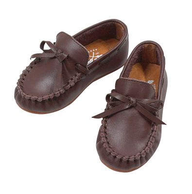 The Oaks Boys Classic Leather Loafers - Brown