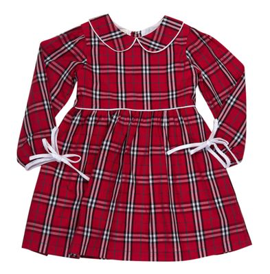 The Oaks Girls Sandra Red Holiday Plaid Dress