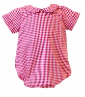 The Proper Peony Baby Boys Red Gingham Stuart Bubble