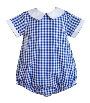 The Proper Peony Baby Boys Royal Blue Gingham Bubble