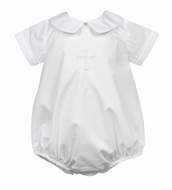 The Proper Peony Legacy Baby Boys White Cross Bubble
