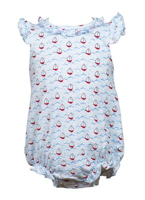 The Proper Peony Baby Girls Parkside Bitty Bubble - Nautical with Ruffle