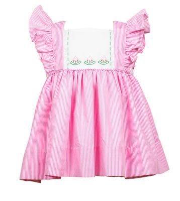 The Proper Peony Girls Pink Wendy Watermelon Dress