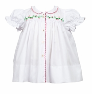 The Proper Peony Baby / Toddler Girls White Sallie Strawberry Dress