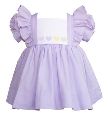 The Proper Peony Girls Lavender Purple Sweetheart Valentine Hearts Dress