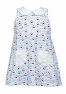 The Proper Peony Girls Parkside Blue Nautical Sailboats Piper Pocket Dress