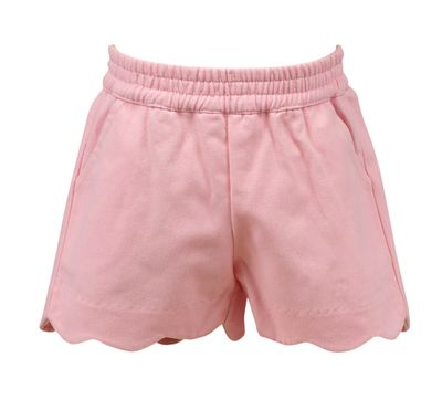 The Proper Peony Girls Parkside Susie Scallop Shorts - Pink