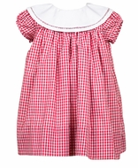 The Proper Peony Girls Red Gingham Magnolia Dress