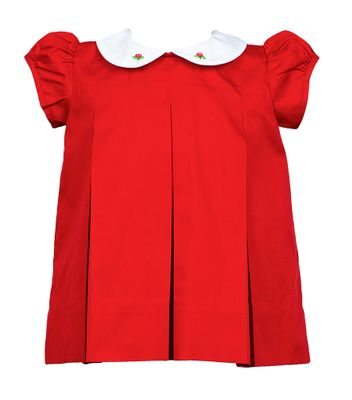 The Proper Peony Girls Red Pleat Dress