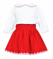 The Proper Peony Girls Red Ramsay Twirl Skirt
