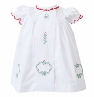The Proper Peony Girls White Noelle Christmas Dress