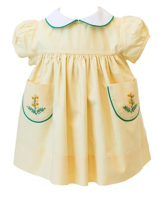 The Proper Peony Girls Yellow Goldenrod Pockets Dress
