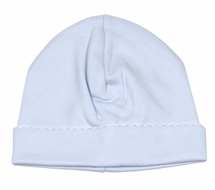 The Proper Peony Layette - Baby Boys Pima Cotton Cap Hat - Blue