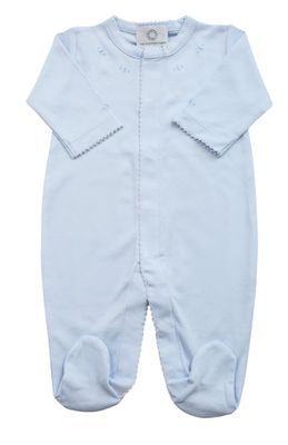 The Proper Peony Layette - Baby Boys Pima Footie - Blue