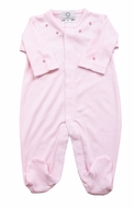 The Proper Peony Layette - Baby Girls Pima Footie - Pink