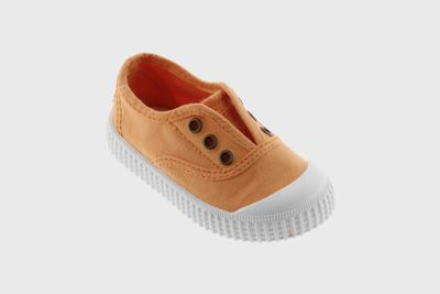 Victoria Shoes - Kids 1915 No Laces  Canvas Slip On Sneakers - Guava