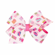 Wee Ones Girls Birthday / Christmas Hair Bow - Pink Presents