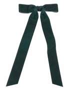 Wee Ones Girls Bow with Streamer Tails - Velvet - Forest Green