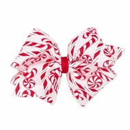 Wee Ones Girls Christmas Novelty Hair Bow - Candy Canes