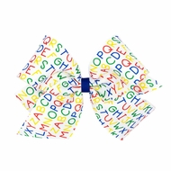 Wee Ones Girls Hair Bow - Back to School - Alphabet Letters